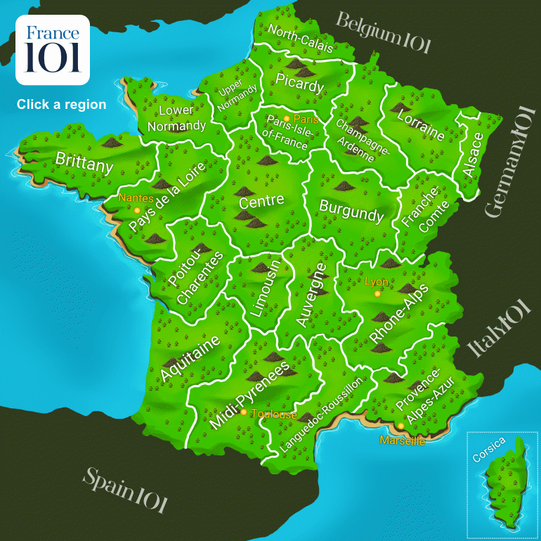 Explore Our Interactive Map Of France France 101