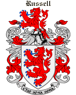 RUSSELL family crest